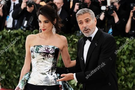 Stock Photo of Amal Clooney and George Clooney