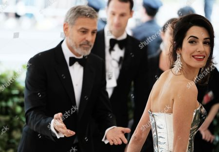 Stock Image of George Clooney and Amal Clooney