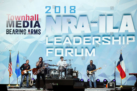 Stock Image of The Joe Nichols band performs at the National Rifle Association-Institute for Legislative Action Leadership Forum in Dallas
