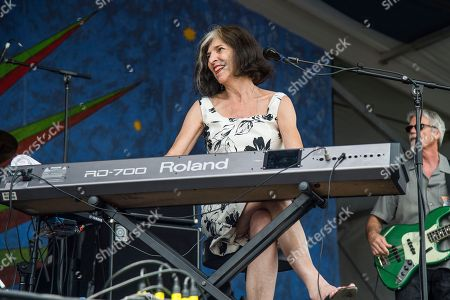 Marcia Ball performs at the New Orleans Jazz and Heritage Festival, in New Orleans