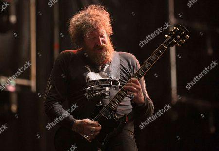 Brent Hinds of the American heavy metal band Mastodon performs during the Hell and Heaven music festival in Mexico City