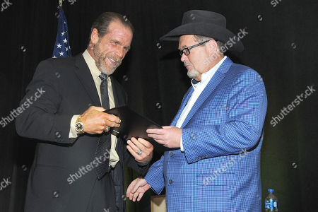 Shawn Michaels and Jim Ross