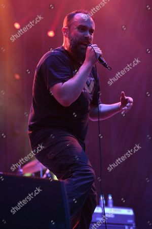 Artist Neil Fallon of Clutch performs on the Bud Light Stage at Beale Street Music Festival on in Memphis, Tenn