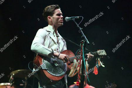 Artist JJ Julius Son of Kaleo performs on the Bud Light Stage at Beale Street Music Festival on in Memphis, Tenn