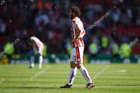 Ramadan Sobhi of Stoke City looks dejected on the final whistle.