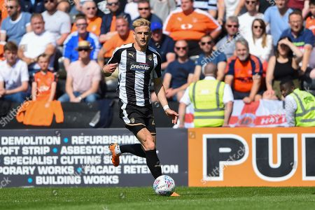 Notts County defender Daniel Jones (23) during the EFL Sky Bet League 2 match between Notts County and Luton Town at Meadow Lane, Nottingham. Picture by Jon Hobley