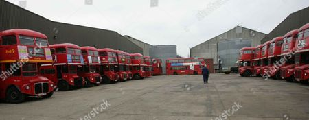 Peter Newman With His Routemaster Buses Which Sell For Up To A10 000 Pounds. Aec Routemaster Buses Have Ended Their Service. They Were Replaced By Merceds-benz 'citaro' Bendy Buses. All Routemaster Buses Will Be Withdrawn By 2006.