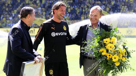 Roman Weidenfeller, Hans-Joachim Watzke and Michael Zorc