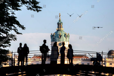 Stock Image of A general view of Charlottenburg Palace in Berlin, Germany, 05 May 2018. The palace with a baroque and rococo decorations, was commissioned by Sophie Charlotte, the wife of Friedrich the Third, Elector of Brandenburg, during the end of the 17th century.