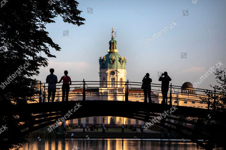 Stock Photo of A general view of Charlottenburg Palace in Berlin, Germany, 05 May 2018. The palace with a baroque and rococo decorations, was commissioned by Sophie Charlotte, the wife of Friedrich the Third, Elector of Brandenburg, during the end of the 17th century.