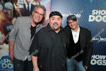 Stock Picture of Director Raja Gosnell, Gabriel Iglesias and Producer Deepak Nayar