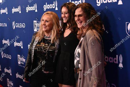 Melissa Etheridge, Bailey Cypheridge and Linda Wallem
