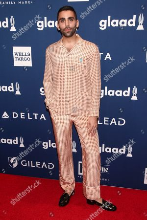 Phillip Picardi attends the 29th Annual GLAAD Media Awards at the New York Hilton, in New York