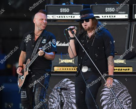 Editorial picture of Blackfoot in concert at Coral Sky Amphitheatre, West Palm Beach, USA - 04 May 2018