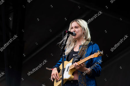 Stock Image of Mackenzie Scott aka Torres, performs on stage at Shaky Knees Music Festival, in Atlanta