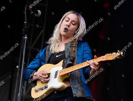 Stock Photo of Mackenzie Scott aka Torres, performs on stage at Shaky Knees Music Festival, in Atlanta