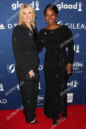 Sarah Kate Ellis (Pres; GLAAD) and Pamela Stewart