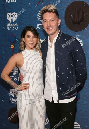 Cascade Pope, Sam Palladio. Cascade Pope, left, and Sam Palladio arrive at the iHeartCountry Festival at the Frank Erwin Center, in Austin, Texas