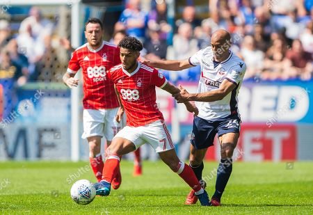 Stock Picture of Bolton Wanderers midfielder Karl Henry (24) puts pressure on Nottingham Forest midfielder Liam Bridcutt (7) during the EFL Sky Bet Championship match between Bolton Wanderers and Nottingham Forest at the Macron Stadium, Bolton. Picture by Jon Hobley