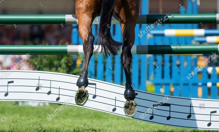 Sir Mark Todd (NZL) riding Leonidas ll during the Mitsubishi Motors Badminton Horse Trials Show Jumping Finale