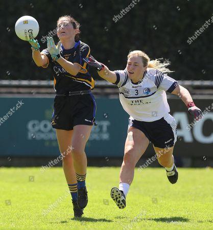 Stock Photo of Cavan vs Tipperary. Cavan's Laura Fitzpatrick tackles Mairead Morrissey of Tipperary