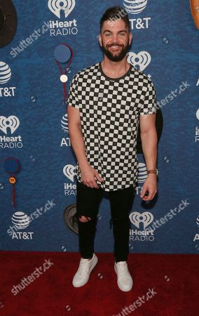 Dylan Scott arrives at the iHeartCountry Festival at the Frank Erwin Center, in Austin, Texas