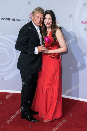 Stock Image of Alexandra Polzin mit Ehemann Gerhard Leinauer