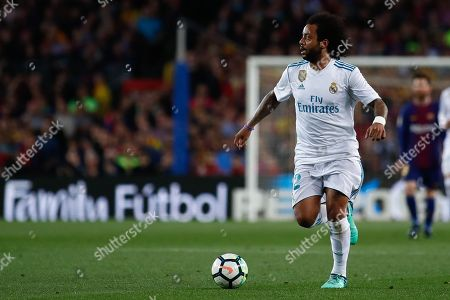 Marcelo Vieira da Silva from Brazil of Real Madrid during the Spanish championship La Liga football match between FC Barcelona and Real Madrid on May 6, 2018 at Camp Nou stadium in Barcelona, Spain - Photo Andres Garcia / Spain DPPI / DPPI