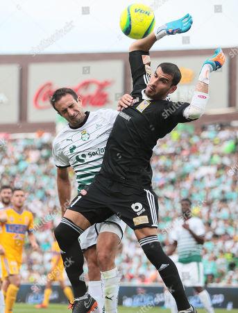 Editorial image of Santos Laguna vs. Tigres UANL, Torreon, Mexico - 06 May 2018