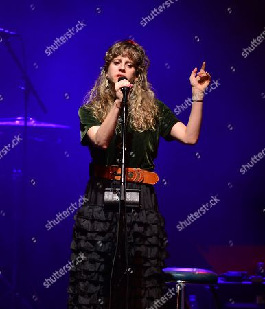 Stock Picture of Singer-songwriter Doe Paoro perform onstage as the opening act for The Gipsy Kings