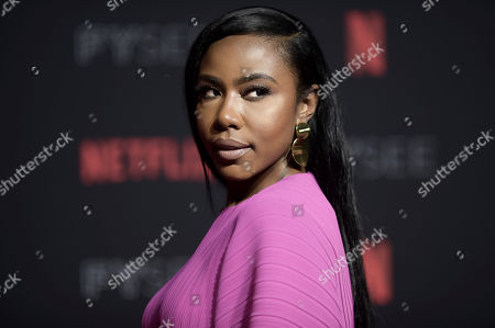 Nia Jervier attends the 2018 Netflix FYSee Kick-Off Event at Raleigh Studios Hollywood, in Los Angeles