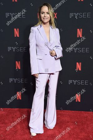 Taryn Manning attends the 2018 Netflix FYSee Kick-Off Event at Raleigh Studios Hollywood, in Los Angeles