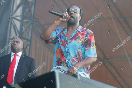 Artist Juicy J performs on the Bud Light Stage at Beale Street Music Festival on in Memphis, Tenn
