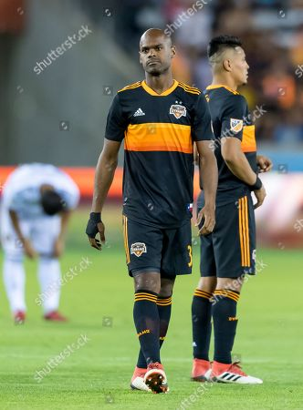 Houston Dynamo defender Adolfo Machado (3) at the start of the second half of the match between the Houston Dynamo and the Los Angeles Galaxy on , at BBVA Compass Stadium in Houston, Texas. The Houston Dynamo beat The LA Galaxy in regular time 3-2