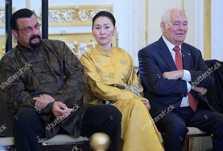 Steven Seagal, Erdenetuya and Leonid Roshal