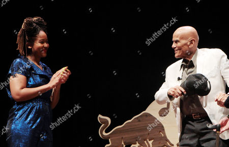 Stock Picture of Kimberly Drew and Harry Belafonte