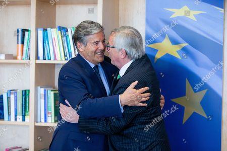 Josef Ackermann and Jean-Claude Juncker