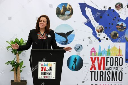 Mexican independent presidential candidate Margarita Zavala participates in the XVI National Tourism Forum in Mexico City, Mexico, 07 May 2018.