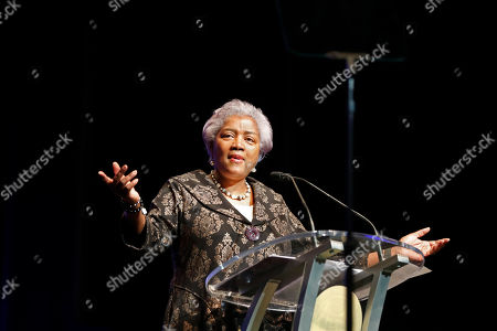 Master of Ceremonies Donna Brazile speaks at the inauguration of New Orleans Mayor Latoya Cantrell in New Orleans, . Cantrell is the first woman to hold the job of New Orleans' mayor since the city was founded 300 years ago