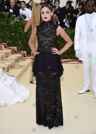 Billie Catherine Lourd attends The Metropolitan Museum of Art's Costume Institute benefit gala celebrating the opening of the Heavenly Bodies: Fashion and the Catholic Imagination exhibition, in New York
