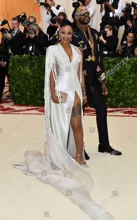 Kesha Ward, 2 Chainz. 2 Chainz, left, and Kesha Ward attend The Metropolitan Museum of Art's Costume Institute benefit gala celebrating the opening of the Heavenly Bodies: Fashion and the Catholic Imagination exhibition, in New York