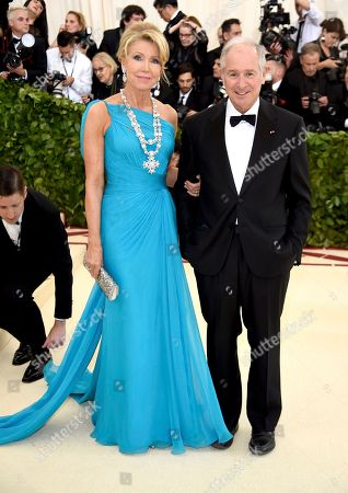 Christine Schwarzman and Stephen Schwarzman. Christine Schwarzman, left, and Stephen Schwarzman attend The Metropolitan Museum of Art's Costume Institute benefit gala celebrating the opening of the Heavenly Bodies: Fashion and the Catholic Imagination exhibition, in New York