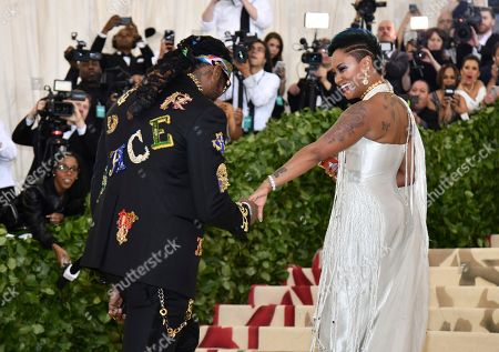 2 Chainz, Kesha Ward. 2 Chainz, left, and Kesha Ward attend The Metropolitan Museum of Art's Costume Institute benefit gala celebrating the opening of the Heavenly Bodies: Fashion and the Catholic Imagination exhibition, in New York