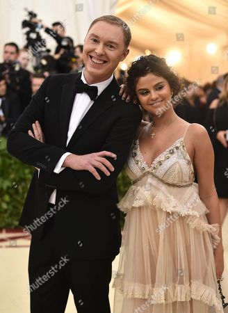 Stuart Vevers, Selena Gomez. Stuart Vevers, left, and Selena Gomez attend The Metropolitan Museum of Art's Costume Institute benefit gala celebrating the opening of the Heavenly Bodies: Fashion and the Catholic Imagination exhibition, in New York