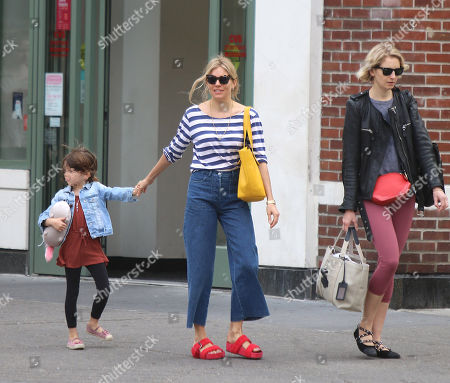 Stock Picture of Sienna Miller, Savannah Miller, Marlowe Sturridge