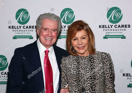 Regis Philbin, Joy Philbin. Regis Philbin and his wife Joy attend the Kelly Cares Foundation's Irish Eyes Gala, in New York. Celebrating its 10th year, the Kelly Cares Foundation has donated more than $4.2 million to support health and education initiatives around the world