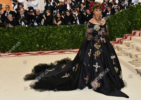 Stock Picture of Marjorie Harvey attends The Metropolitan Museum of Art's Costume Institute benefit gala celebrating the opening of the Heavenly Bodies: Fashion and the Catholic Imagination exhibition, in New York