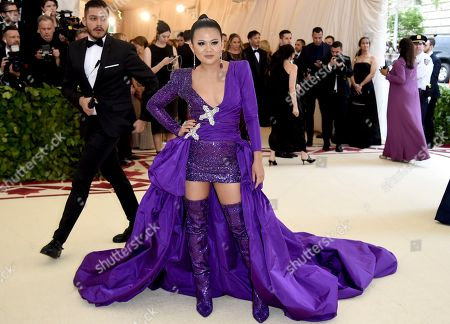 Nichapat Suphap attends The Metropolitan Museum of Art's Costume Institute benefit gala celebrating the opening of the Heavenly Bodies: Fashion and the Catholic Imagination exhibition, in New York