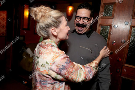 Ari Graynor and Erik Griffin pictured at I'M DYING UP HERE SEASON 2 Premiere celebration at Good Times at Davey Wayne's in Hollywood, CA.