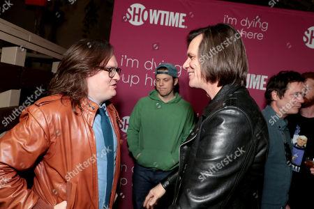 Clark Duke and Jim Carrey, Executive Producer,